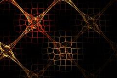 Image rouge de fractale abstraite et brune géométrique de grille Photographie stock libre de droits