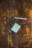 Image rouillée de concept de coffre-fort en métal Images stock