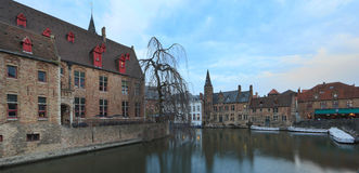 Image with Rozenhoedkaai in Brugge. Stock Photo