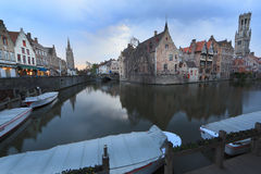 Image with Rozenhoedkaai in Brugge. Stock Images