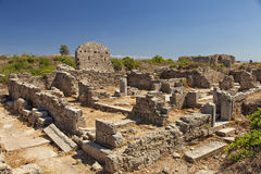 Ancient village ruins in Side Turkey Royalty Free Stock Image