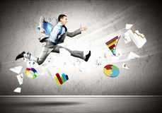 Image of running businessman Stock Photo