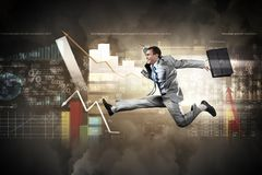 Image of running businessman Royalty Free Stock Image