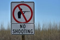 Rural No Hunting Sign stock images