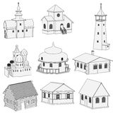 Image of russian houses Royalty Free Stock Photo