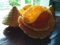 Image sèche de tarte et de biscuit de coudée Image stock