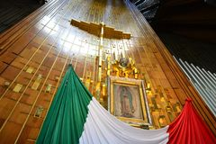 Image sacrée de notre Madame de Guadalupe, à Mexico Photo stock