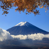 Image of sacred mountain of Fuji in the background at Japan Stock Image