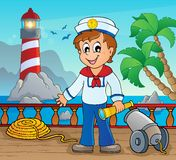 Image with sailor theme 2 Royalty Free Stock Photos