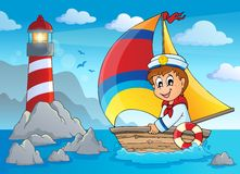 Image with sailor theme 4 Stock Images