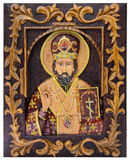 The image of Saint Nicholas on the iconostasis Royalty Free Stock Image