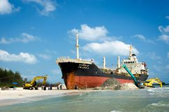 The image of the salvage ship ORAPIN 4 Stock Images