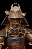 Image of samurai armour on black Stock Photo
