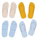 Image of sandals shoes set Royalty Free Stock Image