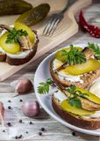 Image with sandwiches. royalty free stock photos