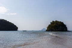 Image of sandy beach, sea Royalty Free Stock Images