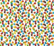 Image sans couture des arachides colorées recouvertes de chocolat photographiées images libres de droits