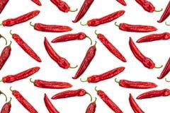 Image sans couture des poivrons rouges photographiés de paprika Photo stock
