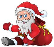 Image with Santa Claus theme 1 Stock Images