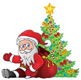 Image with Santa Claus theme 2 Royalty Free Stock Image