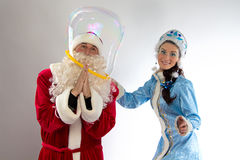 Image of Santa inside the bubble Stock Photos