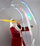 Image of Santa with long bubble Stock Photos
