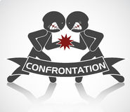 Image schématique de confrontation Photos stock
