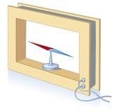 Image schématique. Galvanomètre Photos stock