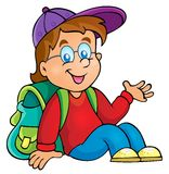 Image with school boy theme 3 Royalty Free Stock Image