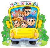 Image with school bus theme 2 vector illustration