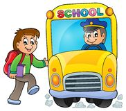 Image with school bus theme 5 Stock Image