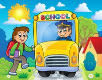Image with school bus theme 6 Stock Photo