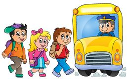 Image with school bus topic 1 Stock Image