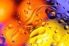 Image scientifique de membrane cellulaire Macro des substances liquides Sctructure abstrait d'atome de molécule Bulles de l'eau M photographie stock libre de droits