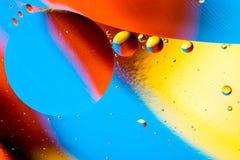 Image scientifique de membrane cellulaire Macro des substances liquides Sctructure abstrait d'atome de molécule Bulles de l'eau M photographie stock