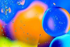 Image scientifique de membrane cellulaire Macro des substances liquides Sctructure abstrait d'atome de molécule Bulles de l'eau M illustration libre de droits