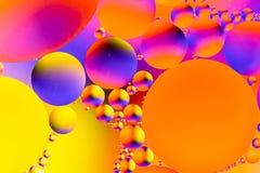 Image scientifique de membrane cellulaire Macro des substances liquides Sctructure abstrait d'atome de molécule Bulles de l'eau M image libre de droits