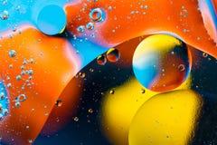 Image scientifique de membrane cellulaire Macro des substances liquides Sctructure abstrait d'atome de molécule Bulles de l'eau M photos libres de droits