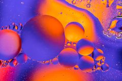 Image scientifique de membrane cellulaire Macro des substances liquides Sctructure abstrait d'atome de molécule Bulles de l'eau M photo stock