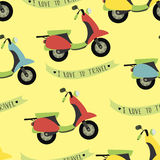 Image with scooters, pattern Royalty Free Stock Photos