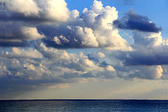 Image with sea and cloudiness sky. Beautiful picture with sea and cloudiness sky Royalty Free Stock Photo