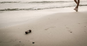 Image of sea and sandglass Stock Photo