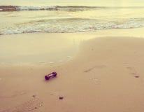 Image of sea and sandglass Stock Photography