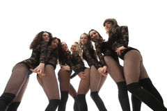 Image of seductive graceful go-go performers Royalty Free Stock Image
