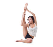 Image of sensual pilates trainer posing in studio Stock Image