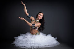 Image of sensual young belly dancer. Posing in studio Stock Photography
