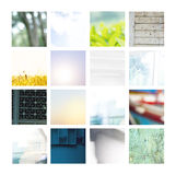 Image Set of Different Backgrounds stock image