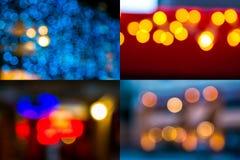 Image set of street light blurs. Image set of colorful street light blurs Royalty Free Stock Images