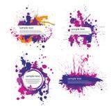Color index blot. Image of several color ink stains on white background royalty free illustration