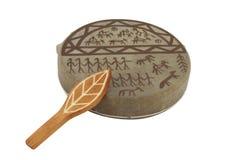 The image of shaman tambourine Stock Photos
